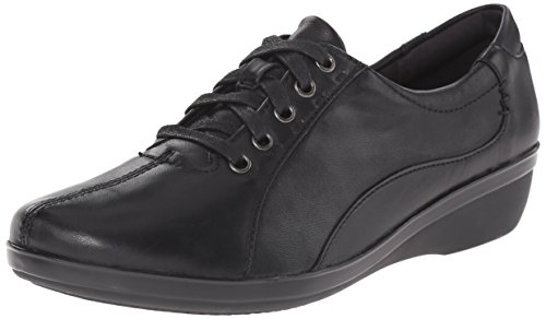 Clarks Women's Everlay Elma, Black Leather, 9 W US