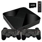 Powkiddy Consola Retro Arcade Game Box G5 ,64GB con 30000 Juegos+Mandos de 2 Piezas, 1280x720 FHD Mini Consola de Videojuegos, Wifi Arcade Consola Portatil Multijugador con HDMI/AV