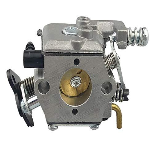 LIQIANG Carburador de motosierra compatible con 3800 38CC Walbro Sierra de cadena de repuesto (color: plata)