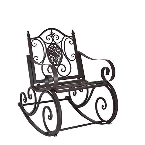 L'ORIGINALE DECO Fauteuil Banc Rocking Chair de Jardin ou d'Extérieur 65.50 cm