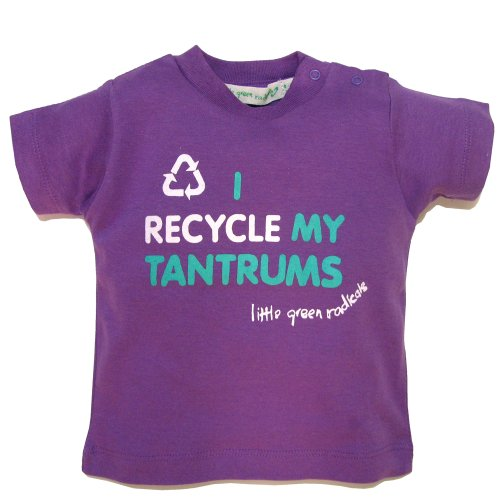 Little Green Radicals Coton Bio issu du commerce équitable, je Recycle My Tantrums T-shirt (Violet) Parent ASIN violet violet 2-3 ans