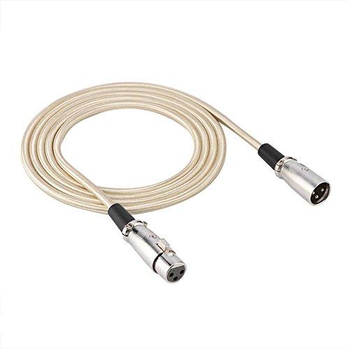 3-Polige Xlr Mannelijke Naar XLR Vrouwelijke Microfoon Microfoonkabel Audiokabel Draad Ideaal Voor Studio-Opname En Live Geluid(3m)