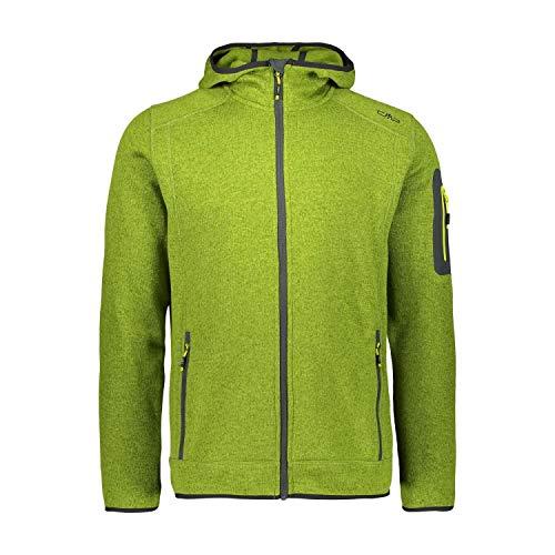 CMP Herren Fleecejacke Knitted Fix Hood Jacket 3H60847N Cactus-Lime 58