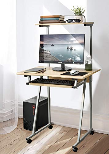 Aingoo Mobile Computer Desk Small Rolling...