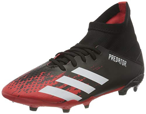 Adidas Predator 20.3 FG J, Zapatillas Deportivas Fútbol Unisex Infantil, Multicolor (Core Black/FTWR White/Active Red), 33 EU