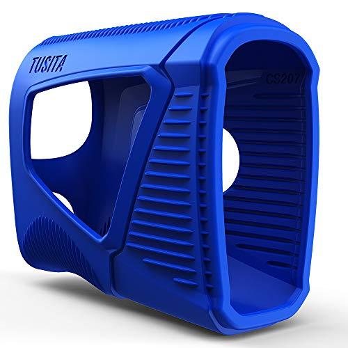 TUSITA Hülle für Bushnell Pro XE - Silikon Schutzhülle - Golf Laser Entfernungsmesser GPS Zubehör, blau