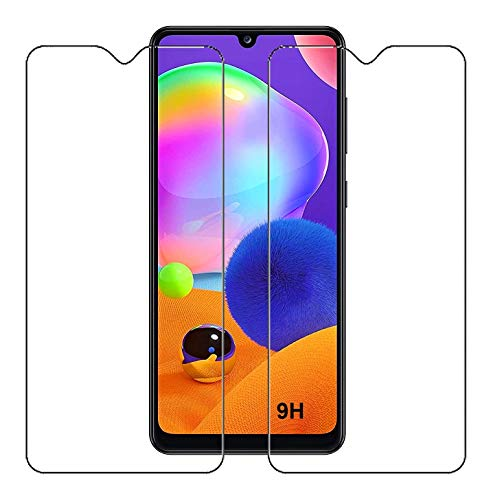 DOUBLEDICESTORE Tempered Glass Screen Protector Compatible for Samsung Galaxy M12 / M02s / M02 / A02s (Transparent) with Full Screen Coverage (Except Edges) and Easy Installation kit,Pack of 2