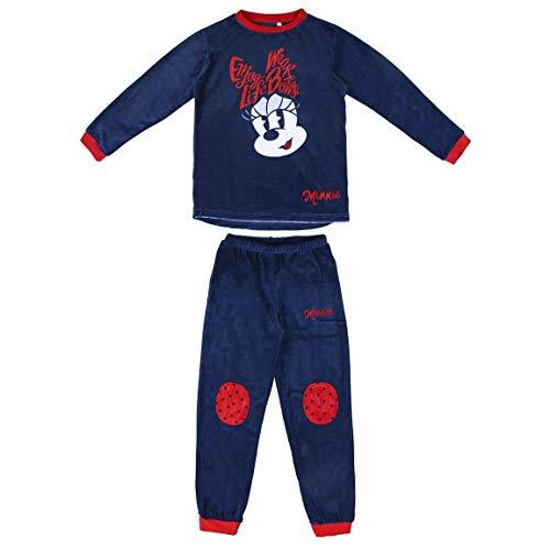 Artesania Cerda Pijama Largo Poly Minnie Conjuntos, Azul (Azul C03), 10 Años para Niñas