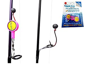 HOOK-EZE Fishing Gear Knot Tying Tool for Fishing Hooks – Cover Hooks on Fishing Rods | Line Cutter | for Saltwater Freshwater Bass Kayak Ice Fishing (Pink)