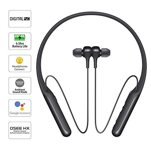 Sony WI-C600N Wireless Bluetooth Digital Noise-Cancelling in-Ear Neck Band Headphones with Magnetic Earbuds, Tangle Free Cord, Voice Assitant, Headet with Mic for Phone Calls – (Black)