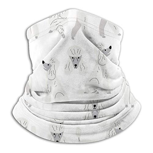 XCNGG Poodle in Action - Calentador de Cuello a Prueba de Viento, Invierno, Cuello, Polaina, máscara Facial para Clima frío para Hombres y Mujeres