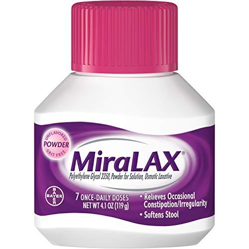 MiraLAX - Laxative - Unflavored Powder - 4.1 oz. 17 Gram Strength - Polyethylene Glycol-McK