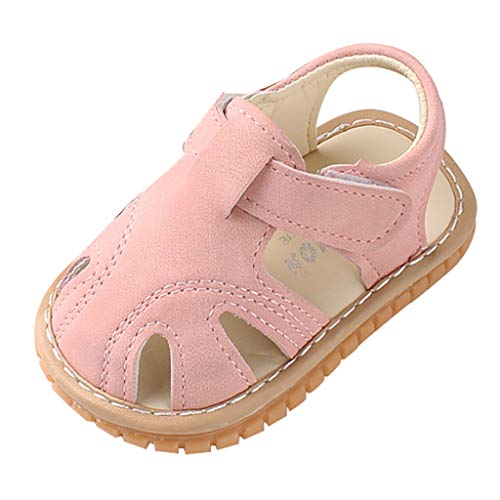 Sayla Sandalias para Bebés NiñA NiñO Verano Casuales Moda Vestr Fiesta Zapatos De Primeros Pasos Cerradas del Pie Antideslizante Suela Blanda PañO Sandalias para ReciéN Nacido