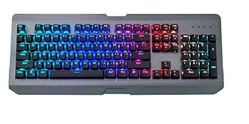 Marvel X Siberian Lynx – Mechanische Gaming-Tastatur, Gateron Brown Switches, 100% Anti-Ghosting, RGB Hintergrundbeleuchtung, LED programmierbare Aluminium-Legierung, wasserdicht