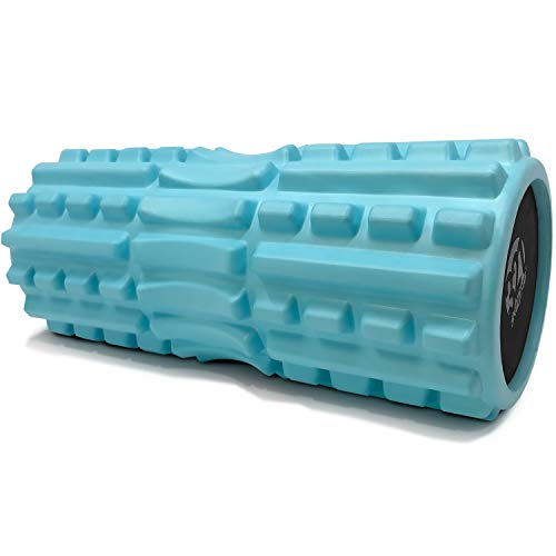 321 STRONG Foam Roller - Extra Firm High Density Deep Tissue Massager with Spinal Channel, for...