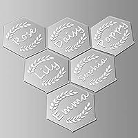 アクリル製座席札 六角形 クリアアクリルブランク ウェディングパーティーやイベントの装飾用 アクリルエスコートカード アクリルサインとテーブルプレースカード用 (12枚)