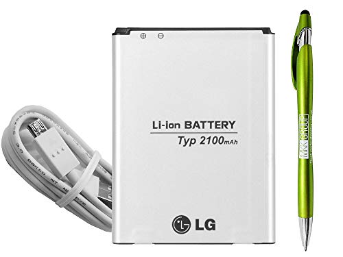 Official OEM LG Replacement Battery 52UH-1 with LG USB & Stylus for LG Optimus D329 D320,LG L70, L65
