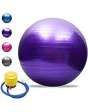 TOMSHOO Anti-burst yogabal, verdikte stabiliteit, balansbal, pilates, barre, fysieke fitness, gymnastiekbal, 45 cm, 55 cm, 65 cm, 75 cm