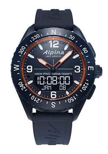 Alpina Alpinerx Herren-Armbanduhr 45mm Armband Kautschuk Quarz AL-283LNO5NAQ6