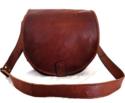 """Hell Blues DSLR Camera 13"""" Crossbody Handmade Leather Bag for Women ~ Ladies with Removable Camera Case (Large Size)"""