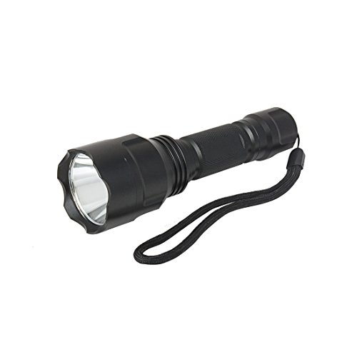 sourcing map Handheld LED Flashlight Tactical Flash Light Torch Lamp Super Bright 5 Modes