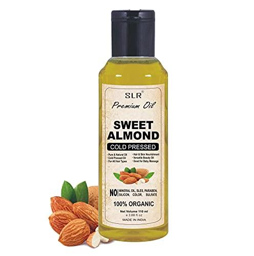 SLR® Premium Sweet Almond Oil - Badam Oil For Skin & Hair Care Herbal & Natural Oil 110 ml