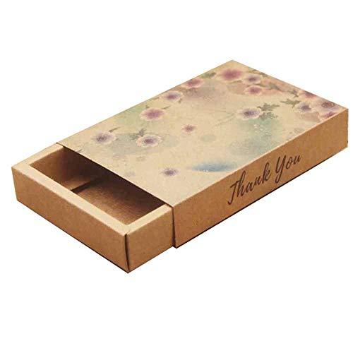 Geschenkdoos BLTLYX Multi Print Geschenkpakket Doos Bloemontwerp Snoep/bruiloft/zeep Schuifdoos/diy Dank u Geschenkdoos 10st 10box slechts 15 doos als foto