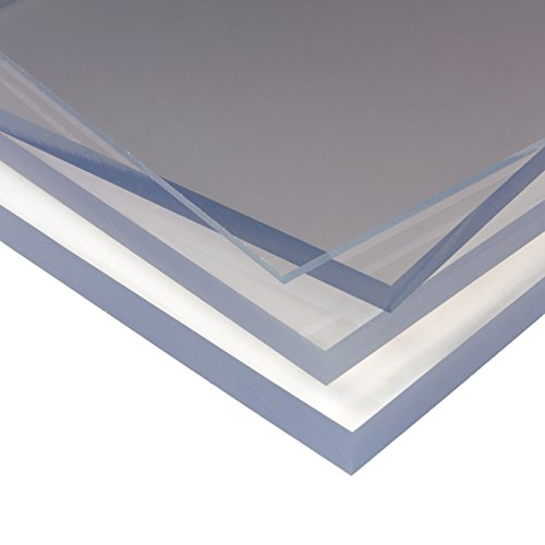 Clear Polycarbonate Plastic Fabrication Sheet Panel Greenhouse Shed Glazing 2mm UV (610x610x2mm)