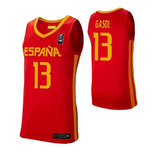 K&A Camiseta Marc Gasol Selección Española de Baloncesto Rojo 2019 para Hombre & Niño (Rojo, Hombre M)