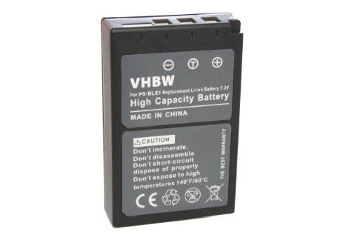 vhbw Akku Ersatz für Olympus PS-BLS1 für Kamera Digicam DSLR (900mAh, 7,2V, Li-Ion)