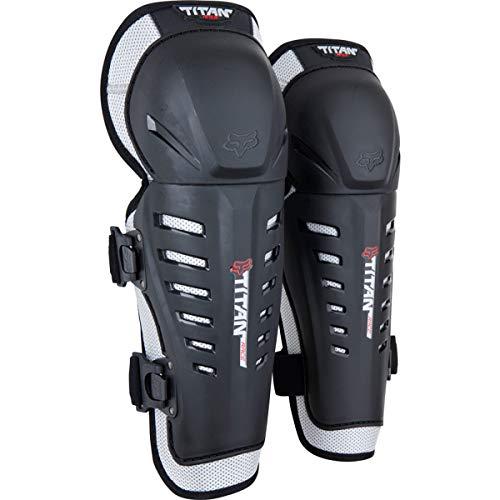 Fox Racing Mens Titan Race Motocross Knee/SHIN Guard,Black,One Size