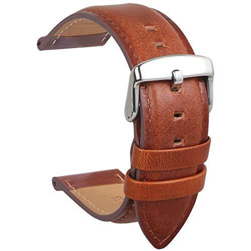 Echtes Leder Uhrenarmband Wasserdichtes Kalbsleder Extra Soft Strap Ersatz Und Frühling Bar Reparatur-Werkzeuge Männer Frauen Geschenk 18MM Braun