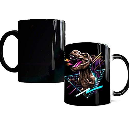 Color Changing Coffee Mug BeneCharm Ceramic Heat Changing Mugs 12oz Novelty Gift Magic Heat Sensitive Mugs Add Hot Coffee or Tea and Watch the Dinosaur Appears