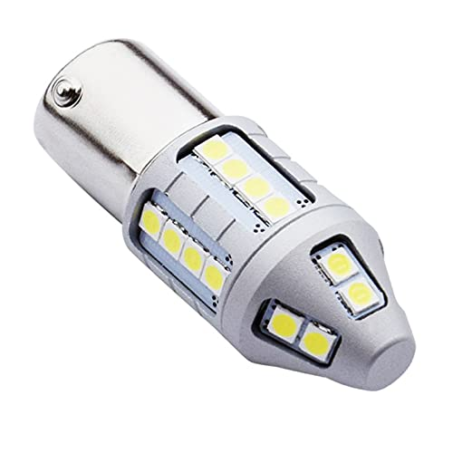 Wcnsxs 2 uds 1156 BA15s P21W 1800LM superbrillante 3030 LED luz de Freno de señal de Giro del Coche lámpara Trasera Bombilla de Marcha atrás automática Blanco Rojo Amarillo ámbar 12V