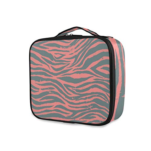 Trousse de maquillage Portable Storage Beauty Tools Cosmetic Train Case Travel Toiletry Pouch Animal Skin