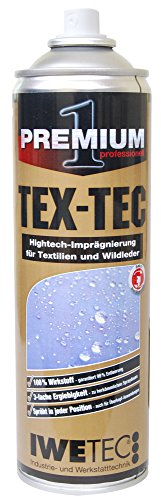 Imprägnierspray TEX-TEC das atmungsaktive Imprägnierspray 400 ml - Für Schuhe, Textilien, weiße Schuhe, Leder, Gore Tex, Zelte