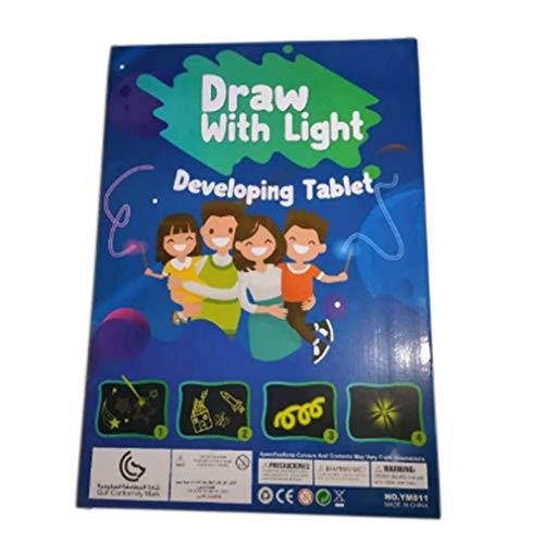 aixu Dibujo Mágico Efecto De Luz Luminosa Tablero Dibujo Creativo Niños Pluma Regalo Multicolor A3 Tipo 1300 * 20 * 420