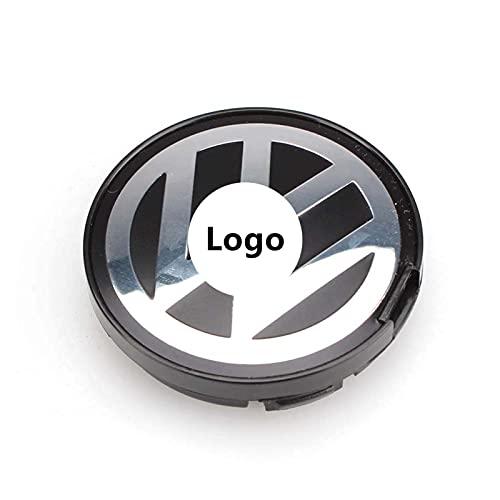 Logo Emblem 55mm Wheel Center Cap Hub Cover V-w Ajuste for Volkswagen Golf Jetta Passat GTI r32 Bora 6N0 601 171