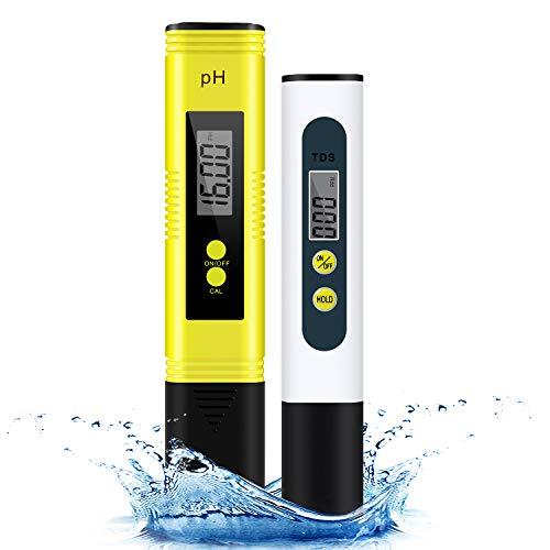 pH Messgerät & TDS Tester Set - Cobiz Wasserqualität Tester Mit Hoher Genauigkeit und LCD Display - Digital pH TDS Wert Teststift für Trinkwasser/Schwimmbad/Aquarium/Labor