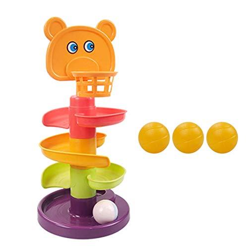 dontdo 1 Unidades de la pista de la bola de varios niveles educativos de plástico de la pista de juguetes para el cabrito Glider Puzzle de montaje de juguete 4