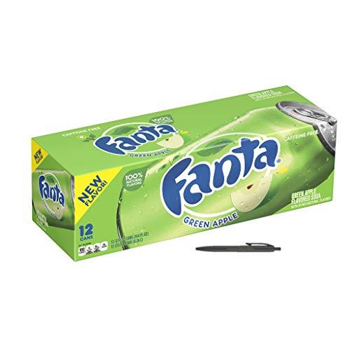 Fanta Green Apple 24 x 0,355 L Dosen Usa Import , Inkl. Gratis FiveStar Kugelschreiber