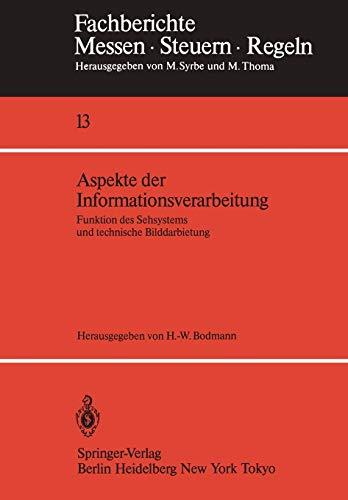 Aspekte der Informationsverarbeitung: Funktion des Sehsystems und technische Bilddarbietung (Fachberichte Messen - Steuern - Regeln (13), Band 13)