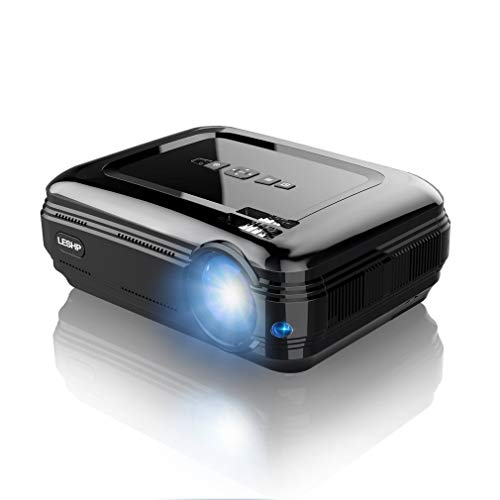 PanGA WiFi Mini Projector 720P LCD HD Projector High Resolution High Brightness LED 3200 Lumens Multimedia Home Cinema Theater Projector HDMI VGA USB for Laptop/TV Compatible LESHP