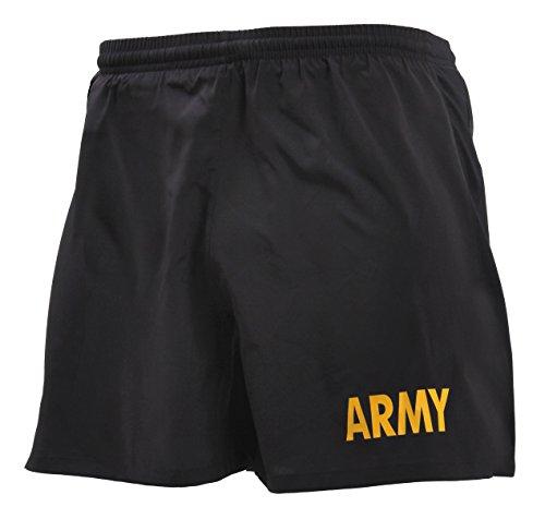 Rothco Army Physical Training Shorts, S Black/Gold