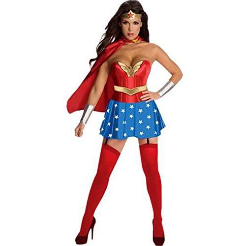 hhalibaba Disfraz de Mujer Maravilla Vestido Sexy para Adultos Roma Heroine Disfraces de Halloween Superwoman Cosplay