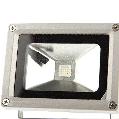 ZSGZ 10W LED-Leistungs-wasserdichte RGB-Flutlicht-Lampe mit Fernbedienung, gebraucht AC 85-265V for Außenwandleuchte aus verschiedenen Gebäuden