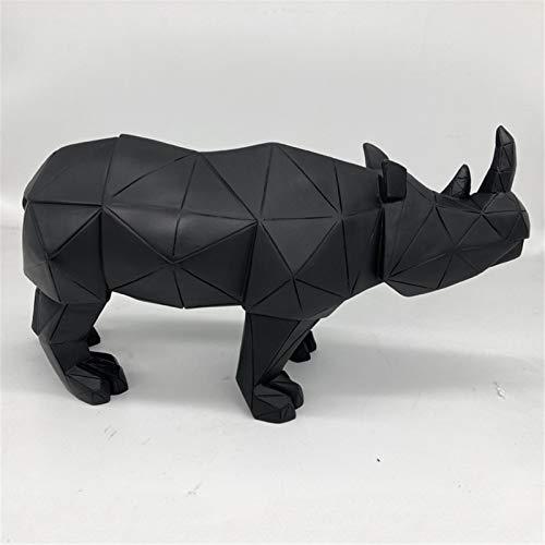 Yousiju Escultura geométrica Rinoceronte Estatua Decoración de Artware Estatua decoración del hogar decoración de los Accesorios