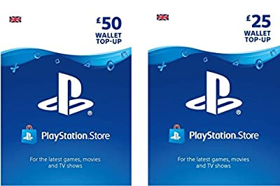 PlayStation PSN Card 75 GBP Wallet Top Up | PSN Download Code - UK account