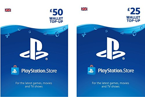 PlayStation PSN Card 75 GBP Wallet Top Up | PS5/PS4/PS3 | PSN Download Code - UK account