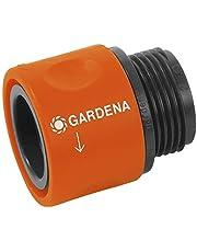 """GARDENA slangovergangsstuk: Aansluitstuk voor overgang tussen slangschroefverbinding en GARDENA kraanverbinding, voor 26,5 mm (G 3/4"""")-schroefdraad, bijv. voor wasmachines, verpakt (2917-20)"""